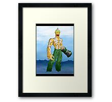 dreams and nightmares: earthquakes, volcanos, tidal waves, and shark monsters... oh no!! Framed Print