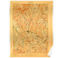 Maine USGS Historical Map Poland 807629 1908 62500 Poster