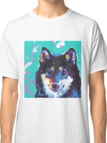 Shiba Inu Bright colorful pop dog art Classic T-Shirt
