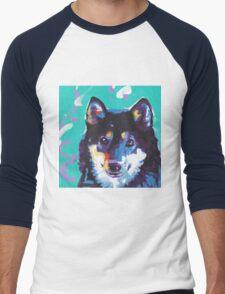 Shiba Inu Bright colorful pop dog art Men's Baseball ¾ T-Shirt