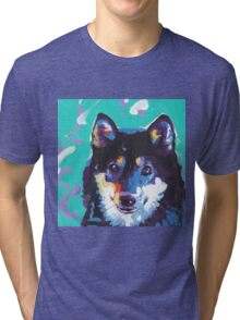 Shiba Inu Bright colorful pop dog art Tri-blend T-Shirt
