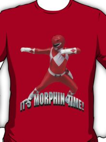 Mighty Morphin Red Ranger - It's Morphin Time! T-Shirt