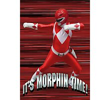 Mighty Morphin Red Ranger - It's Morphin Time! Photographic Print