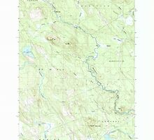 Maine USGS Historical Map Porcupine Mountain 102890 1987 24000 by wetdryvac