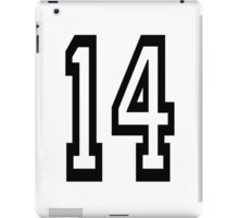 TEAM SPORTS, 14, NUMBER 14, FOURTEEN, FOURTEENTH, Competition,  iPad Case/Skin