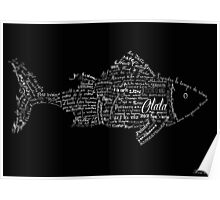 Typographic fish Poster