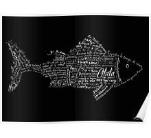 Typographic fish Poster