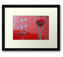 Composition in red Framed Print