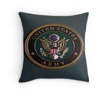 Army Dedication Throw Pillow