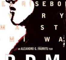 Birdman poster Sticker
