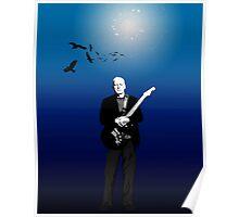 David Gilmour The Blue 2015 Tour Poster