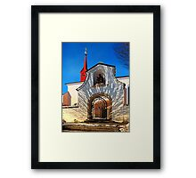 The cemetary church of Schlägl IV | architectural photography Framed Print