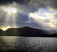 Sunbeams over Ullswater by Lesleymc77