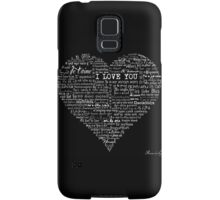 Typographic multi language I love you heart Samsung Galaxy Case/Skin