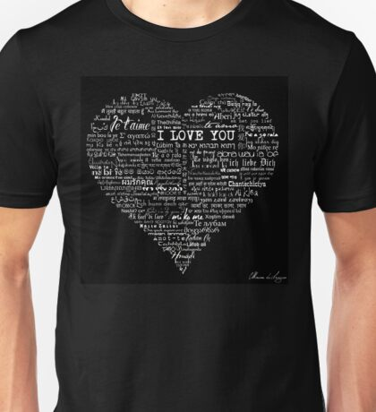 Typographic multi language I love you heart Unisex T-Shirt