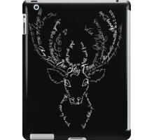 Deer stag antlers typographic iPad Case/Skin