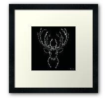 Deer stag antlers typographic Framed Print