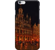 Grand Place at Night, Brussels, Belgium iPhone Case/Skin
