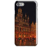 Grand Place at Night, Brussels, Belgium iPhone Case/Skin