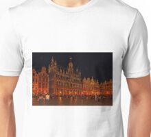 Grand Place at Night, Brussels, Belgium Unisex T-Shirt
