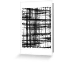 Essie - Grid, Black and White, BW, grid, square, paint, design, art Greeting Card