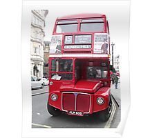 London Routemaster Bus Poster