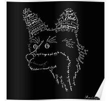 Typographic fox Poster