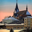 Winter scenery with village skyline | architectural photography by Patrick Jobst