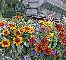 Flower Box and Wagon. by VioletInk