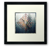 filigree and forest - papercut pattern Framed Print
