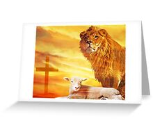 And the Lion Will lay Down With the Lamb... Greeting Card