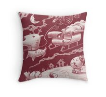 Santa's Trippin' Throw Pillow