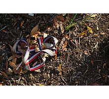 Red, White and Blue Ribbon Photographic Print