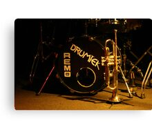 brass, drums and jazz Canvas Print