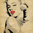 Marilyn Monroe 3 Colour (Aged) by trev4000