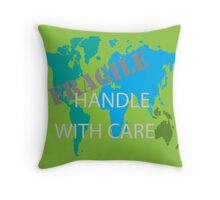 Fragile World Throw Pillow