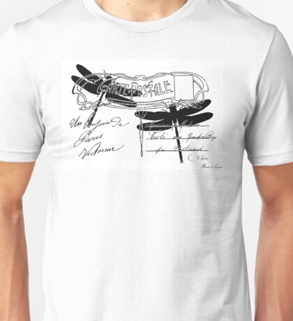Dragonfly French postcard Unisex T-Shirt