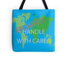 Fragile World - Blue Tote Bag
