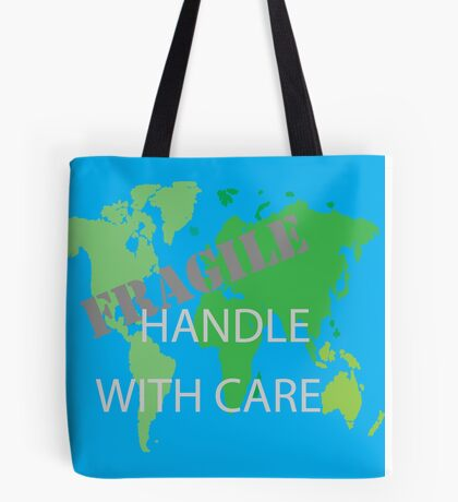 Fragile World - Blue Tote Bag