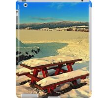 Table and bench in winter scenery | landscape photography iPad Case/Skin