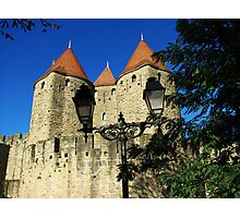 Medieval towers of Carcassonne. Photographic Print