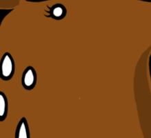 Licky Deer Head Sticker