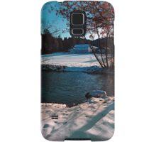 River across winter wonderland | landscape photography Samsung Galaxy Case/Skin