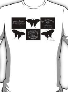 Geometrical butterflies black white T-Shirt