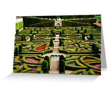 Jardin d'Amour - Villandry Greeting Card