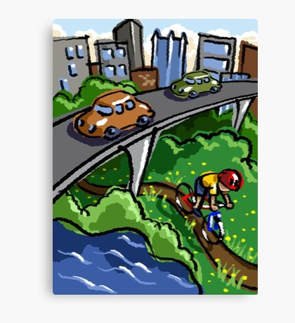 Urban Biking Canvas Print