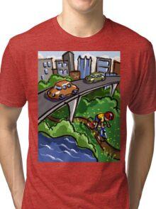 Urban Biking Tri-blend T-Shirt