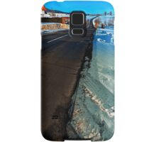 Winter road into far distance | landscape photography Samsung Galaxy Case/Skin