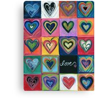 Love Hearts Love Canvas Print