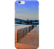 Fences, evening sun and the village | landscape photography iPhone Case/Skin